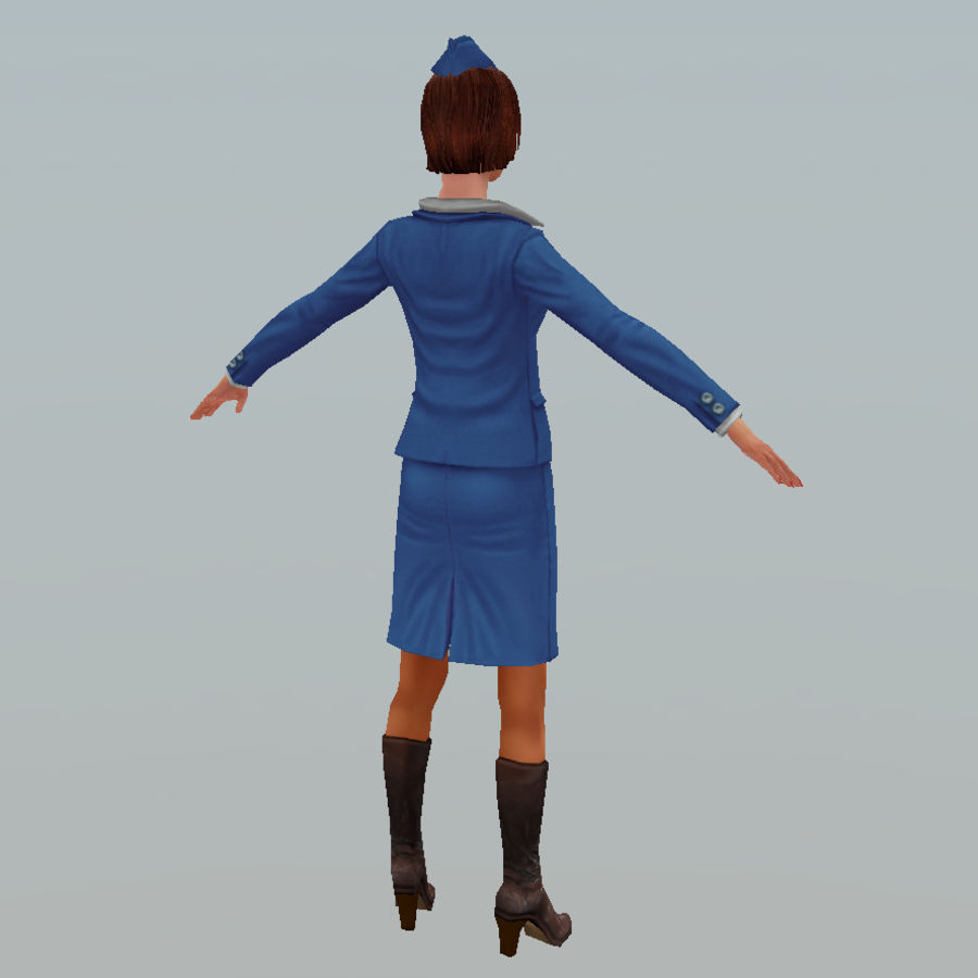 hostess royalty-free 3d model - Preview no. 10
