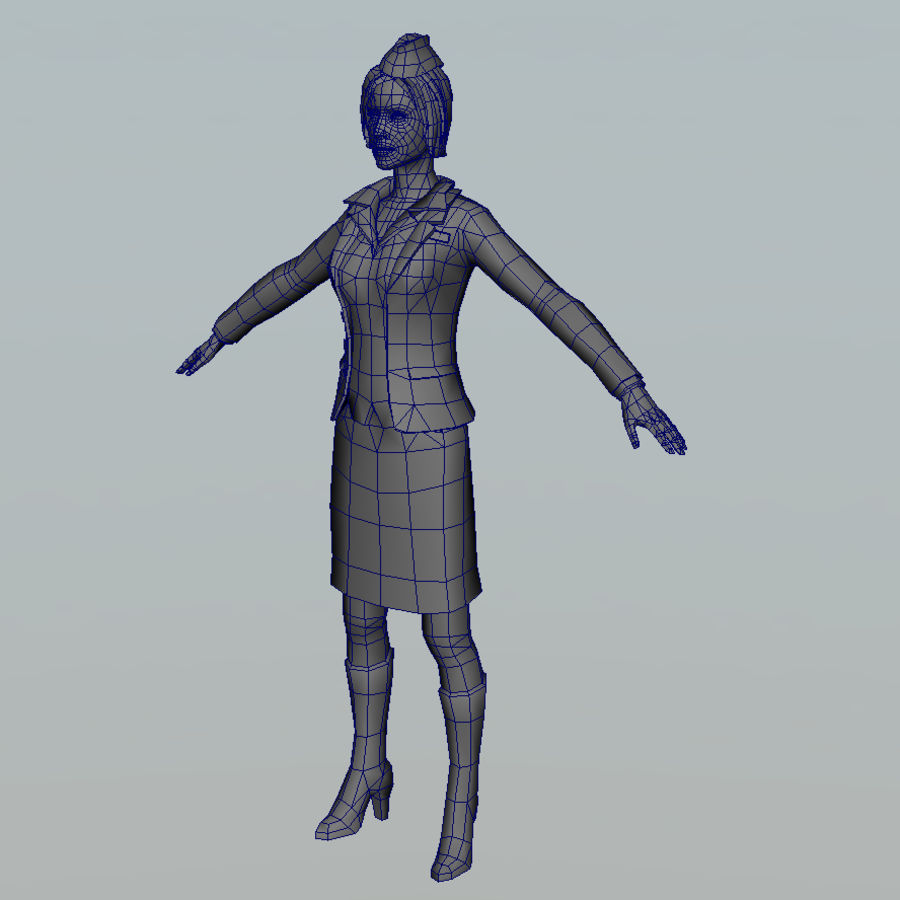 hostess royalty-free 3d model - Preview no. 12