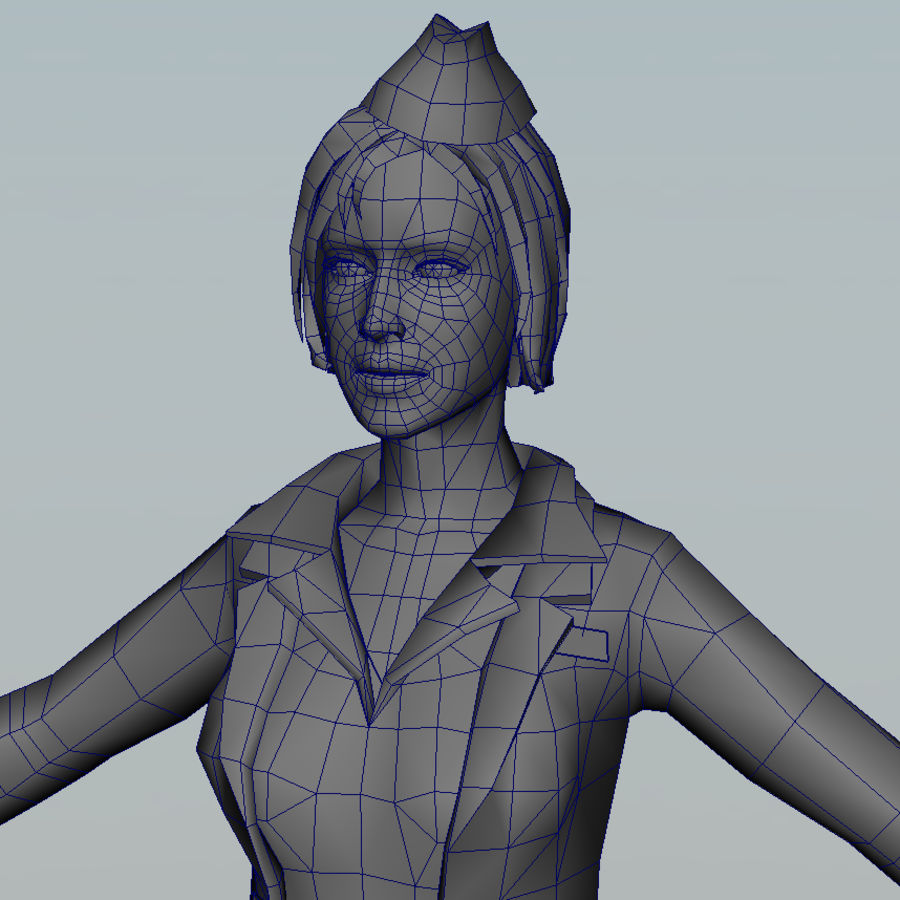 hostess royalty-free 3d model - Preview no. 13