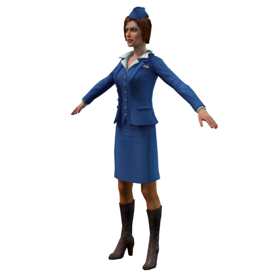 hostess royalty-free 3d model - Preview no. 6