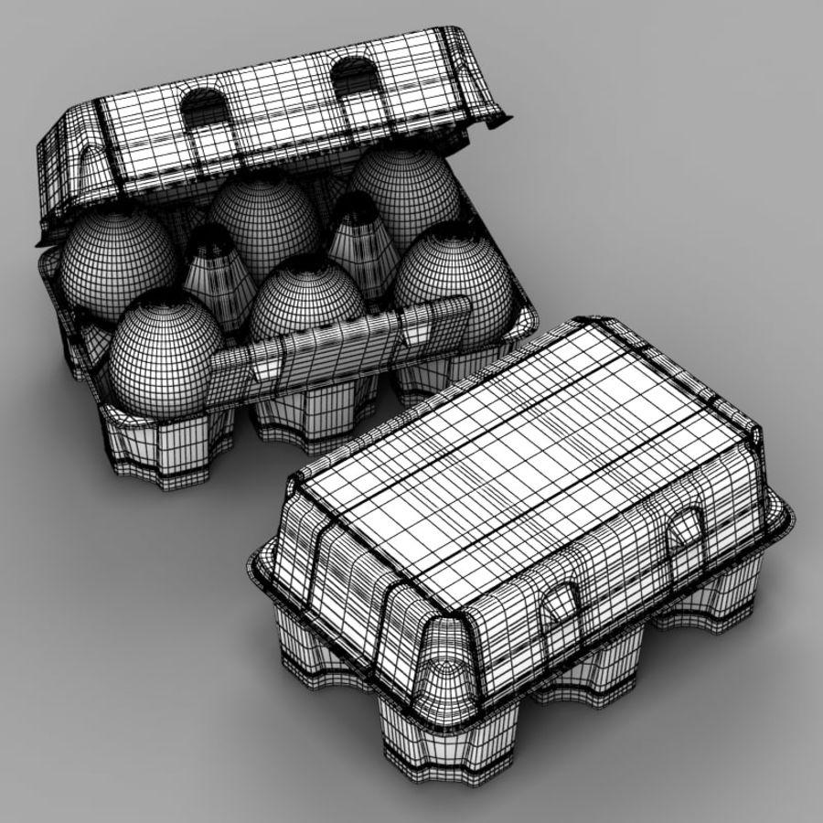 Pudełko na jajka 2 royalty-free 3d model - Preview no. 9