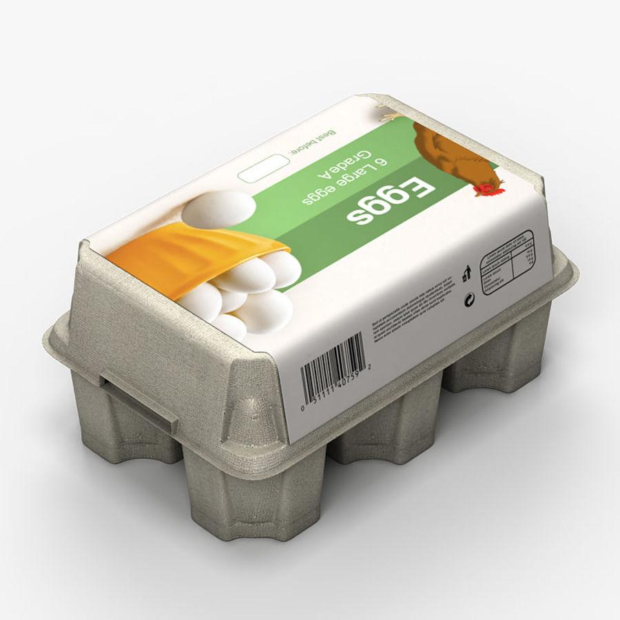 Pudełko na jajka 2 royalty-free 3d model - Preview no. 3
