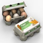 Scatola delle uova 2 3d model