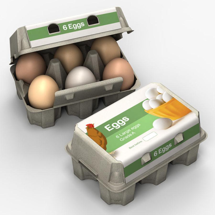 Pudełko na jajka 2 royalty-free 3d model - Preview no. 1