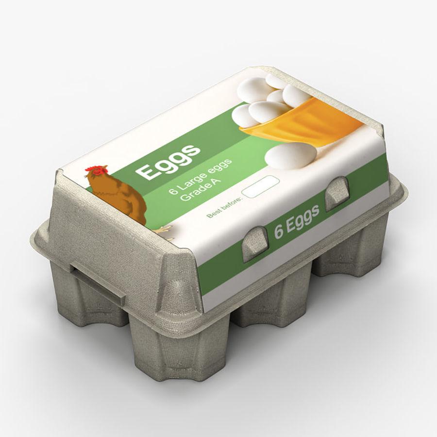Pudełko na jajka 2 royalty-free 3d model - Preview no. 2
