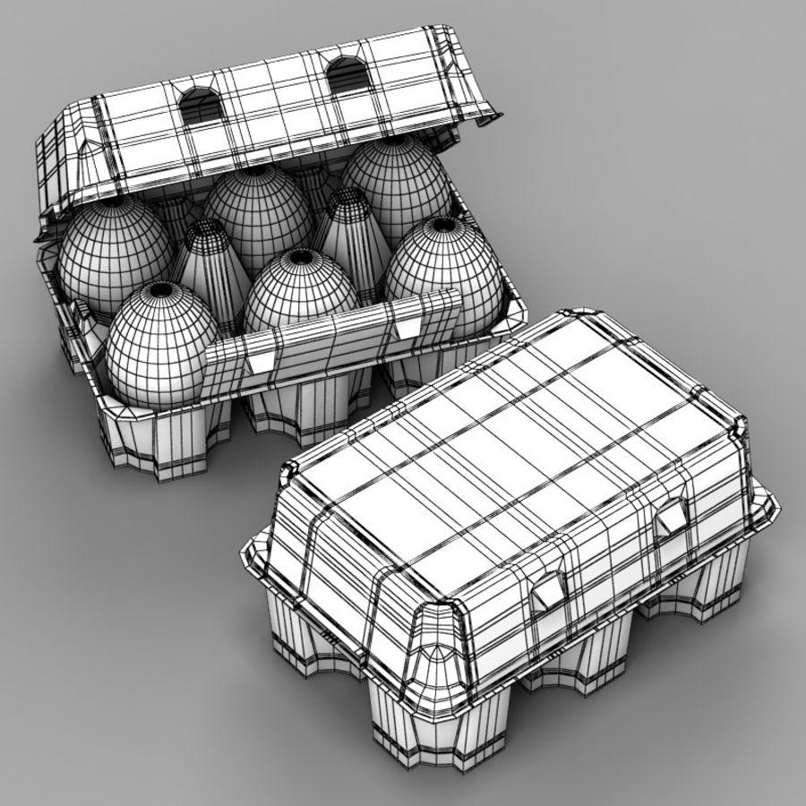 Pudełko na jajka 2 royalty-free 3d model - Preview no. 8