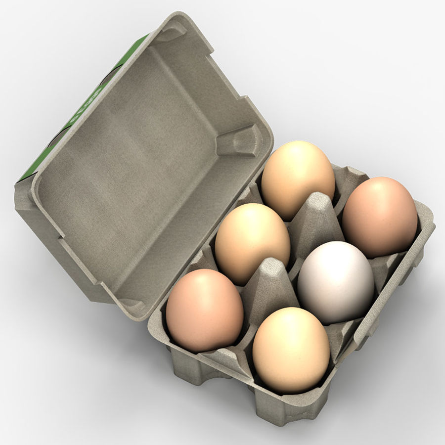 Pudełko na jajka 2 royalty-free 3d model - Preview no. 5