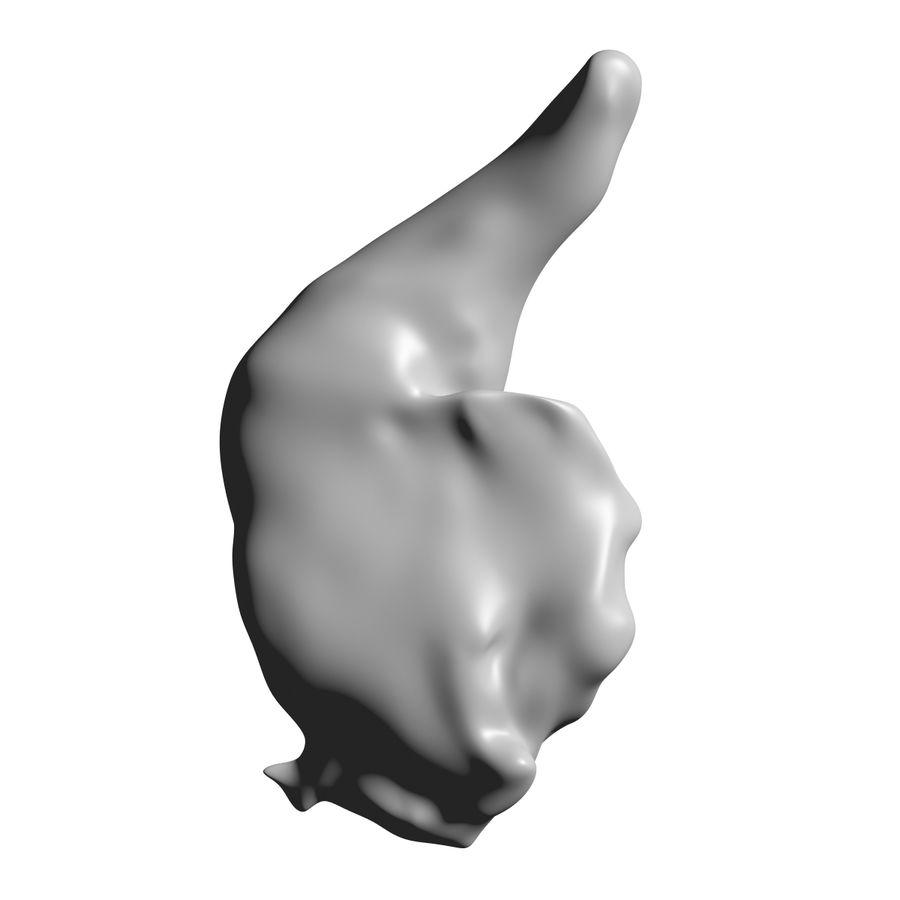 파삭 파삭 한 닭 다리 royalty-free 3d model - Preview no. 4