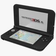 Nintendo 3DS XL White 3D Model 3d model