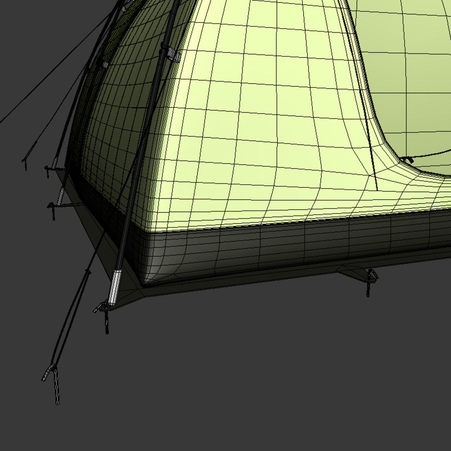 Camping Tent royalty-free 3d model - Preview no. 10