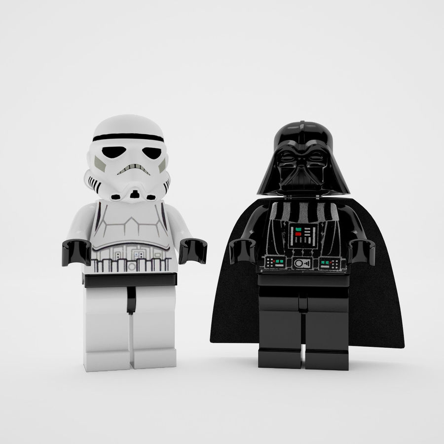 Lego star wars royalty-free 3d model - Preview no. 2