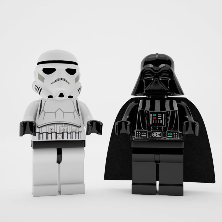 Lego star wars royalty-free 3d model - Preview no. 1