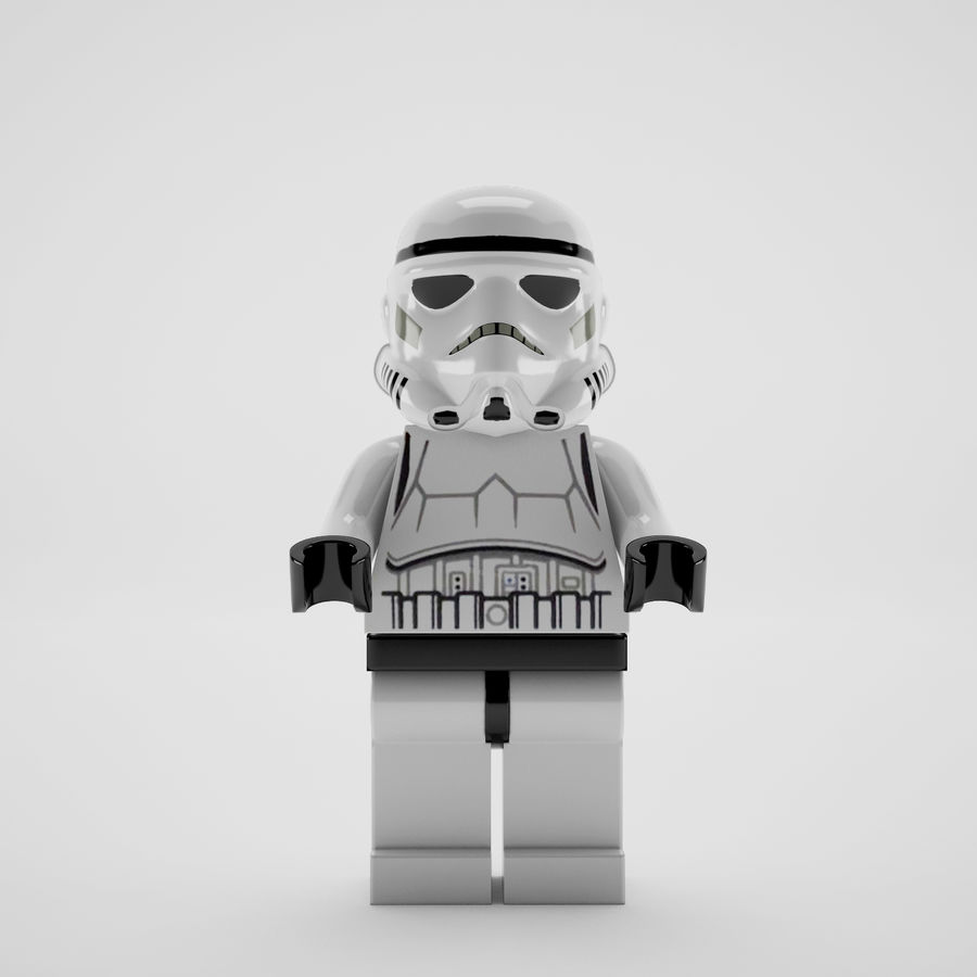 Lego star wars royalty-free 3d model - Preview no. 8