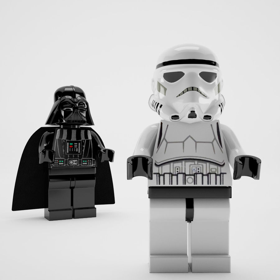 Lego star wars royalty-free 3d model - Preview no. 5