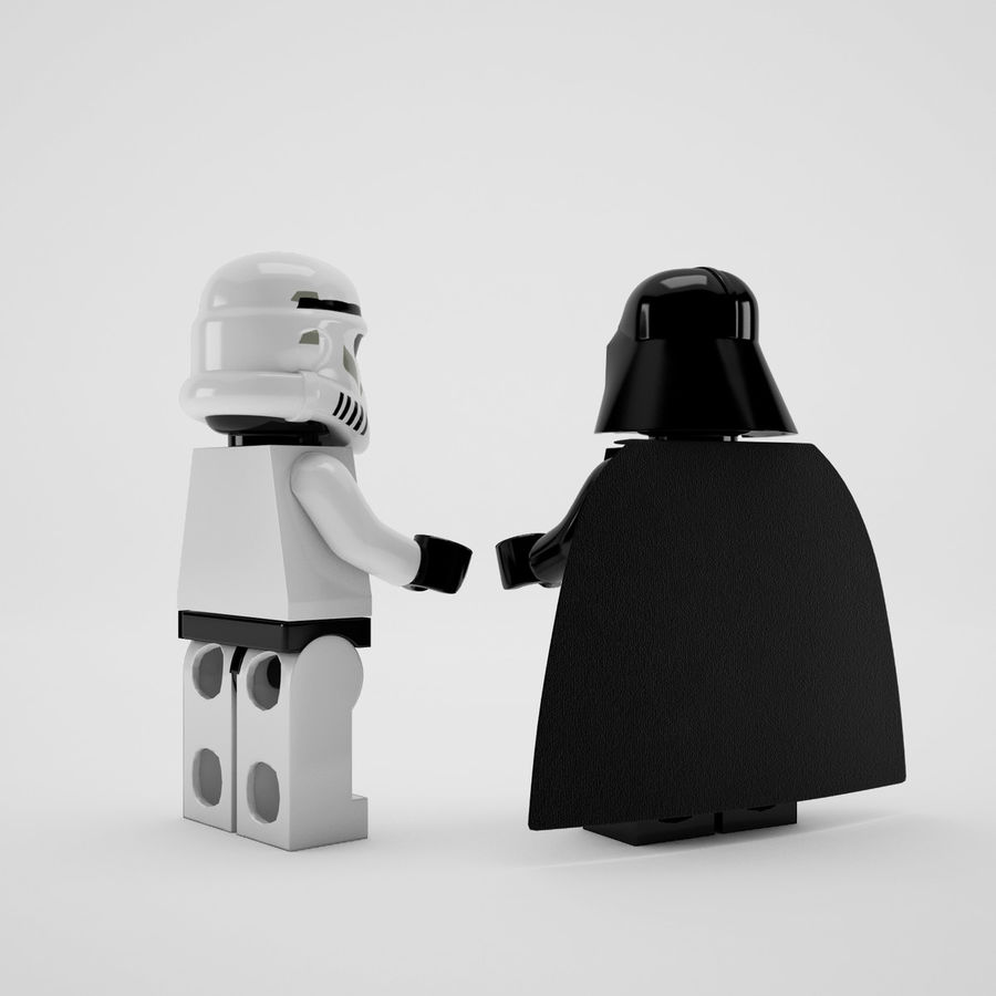 Lego star wars royalty-free 3d model - Preview no. 3