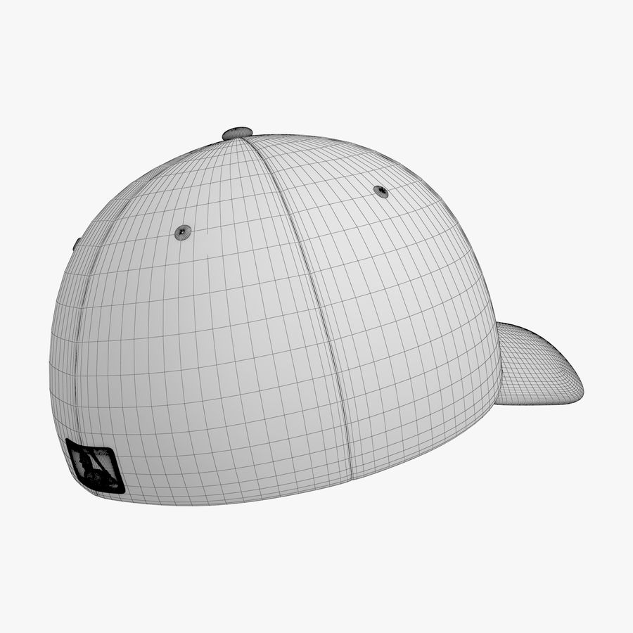 Boné de baseball royalty-free 3d model - Preview no. 17