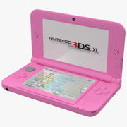 Nintendo 3DS XL modelo 3D rosa 3d model