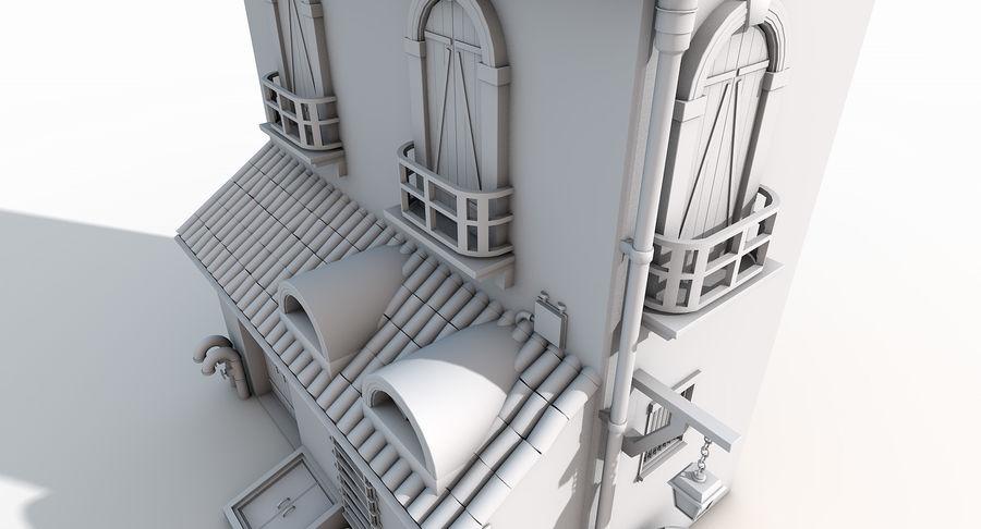 Casa velha royalty-free 3d model - Preview no. 12