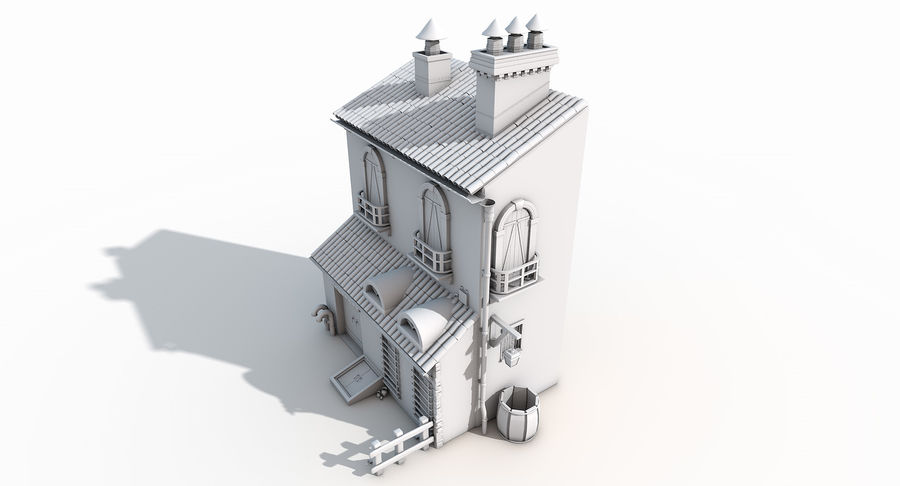 Casa velha royalty-free 3d model - Preview no. 14