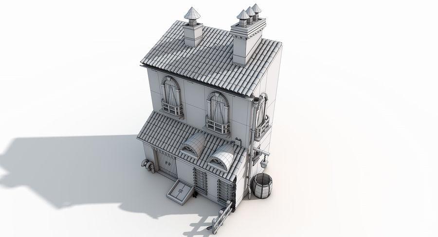 Casa velha royalty-free 3d model - Preview no. 16