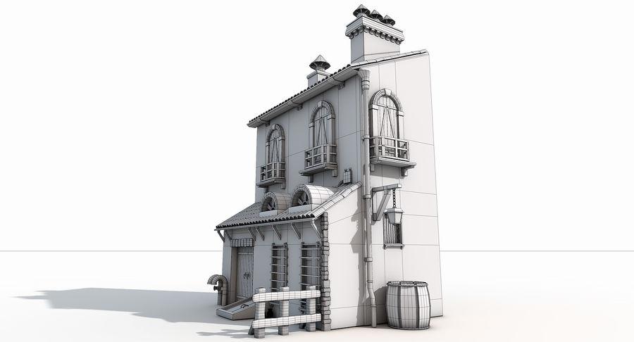 Casa velha royalty-free 3d model - Preview no. 15