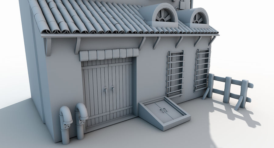 Casa velha royalty-free 3d model - Preview no. 7