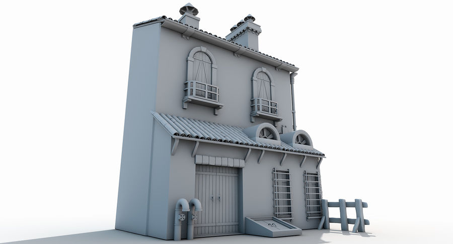 Casa velha royalty-free 3d model - Preview no. 4