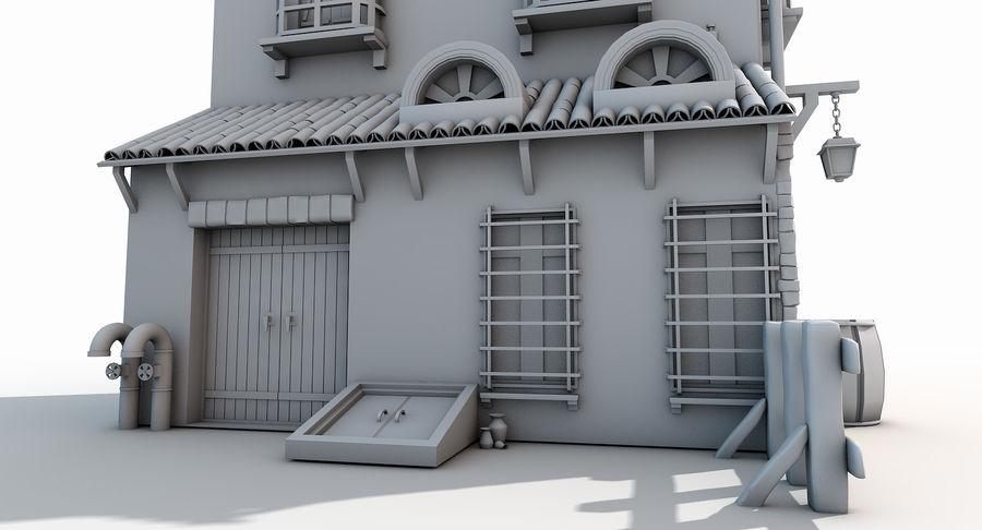 Casa velha royalty-free 3d model - Preview no. 6