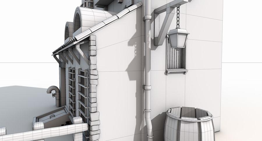 Casa velha royalty-free 3d model - Preview no. 19
