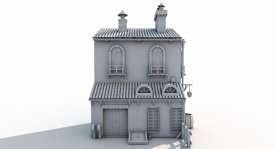 Casa velha royalty-free 3d model - Preview no. 13