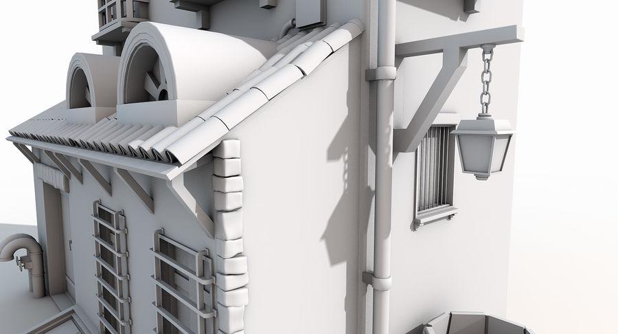 Casa velha royalty-free 3d model - Preview no. 9