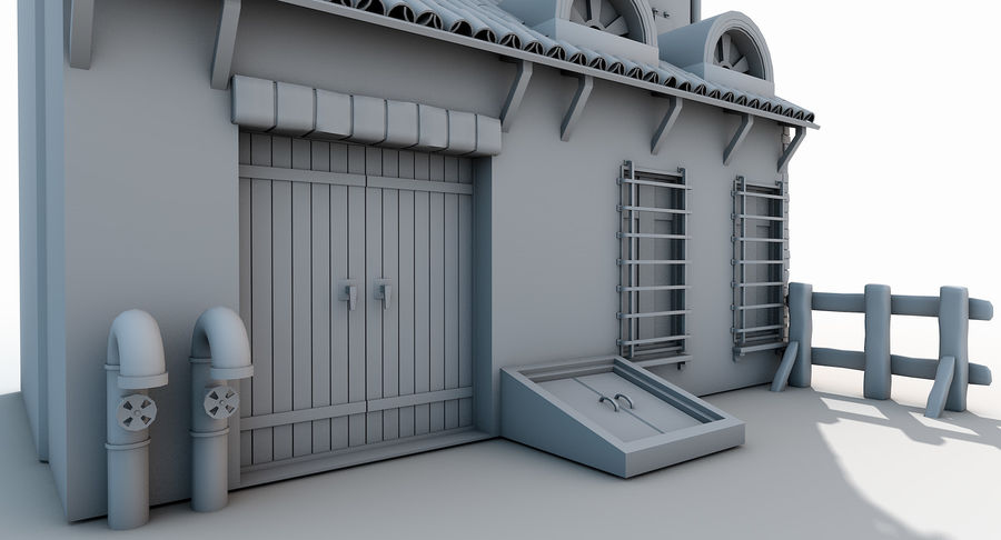 Casa velha royalty-free 3d model - Preview no. 10
