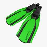 Yüzmek Yüzgeçleri 2 Yeşil 3D Model 3d model