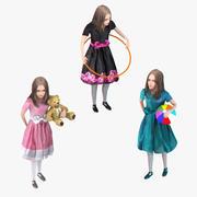 Rigged Kids Set 3d model