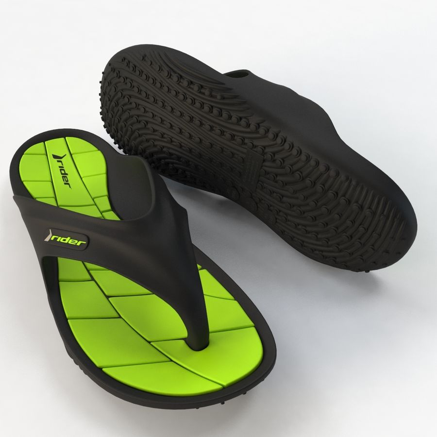 Flip Flop Rider royalty-free 3d model - Preview no. 10