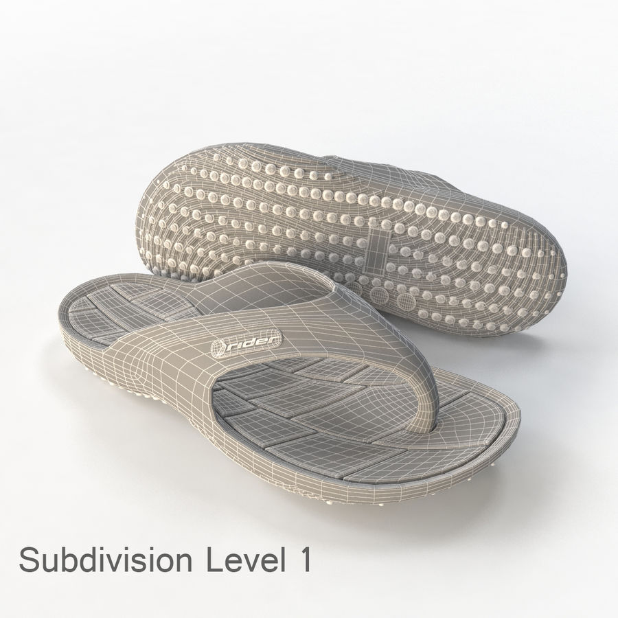 Flip Flop Rider royalty-free 3d model - Preview no. 4