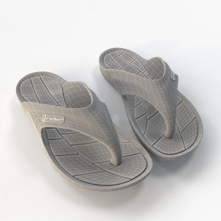 Rider Flip Flops royalty-free 3d model - Preview no. 8
