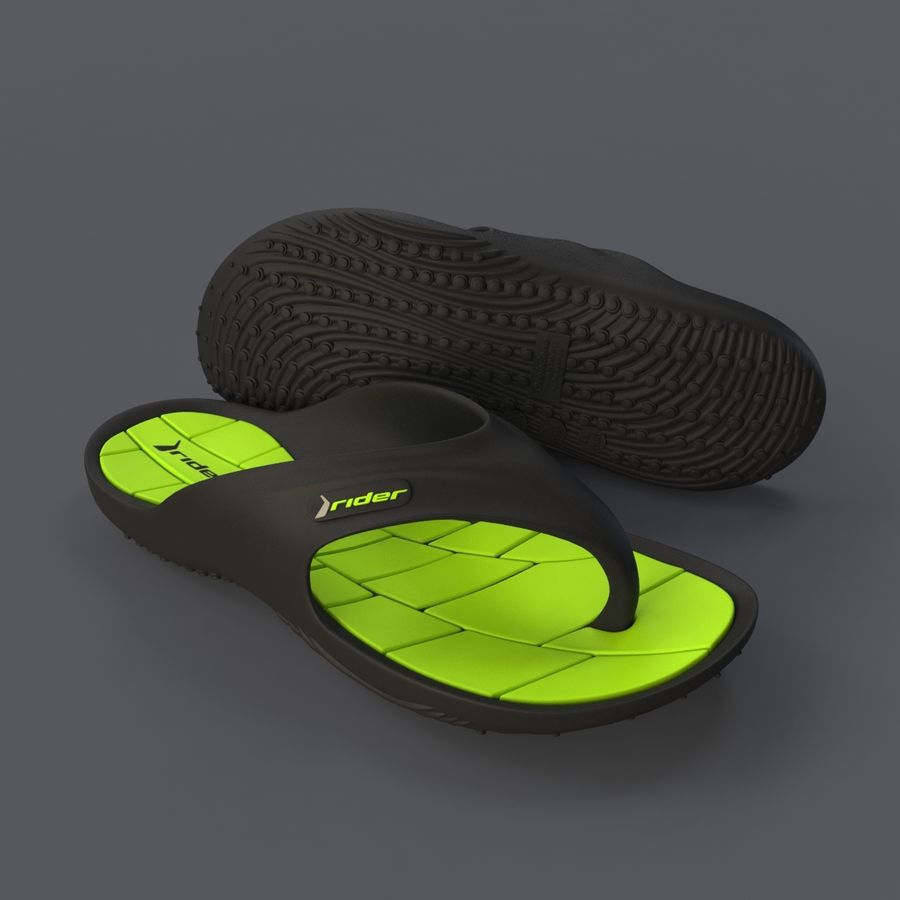 Rider Flip Flops royalty-free 3d model - Preview no. 2