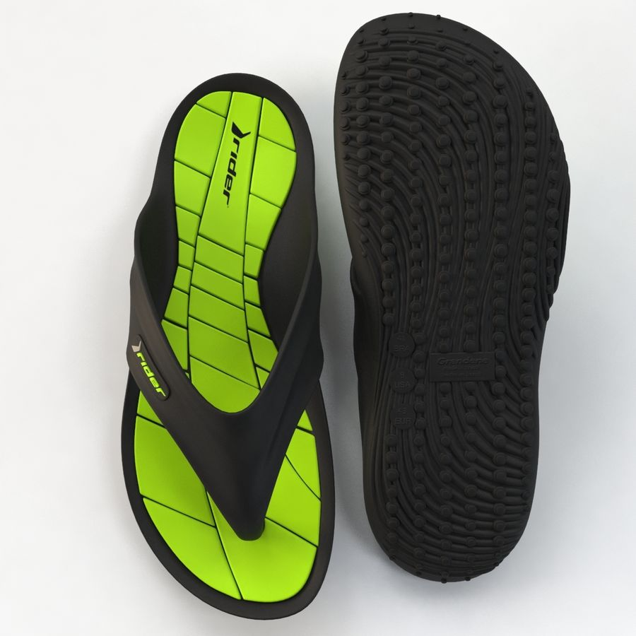 Rider Flip Flops royalty-free 3d model - Preview no. 12
