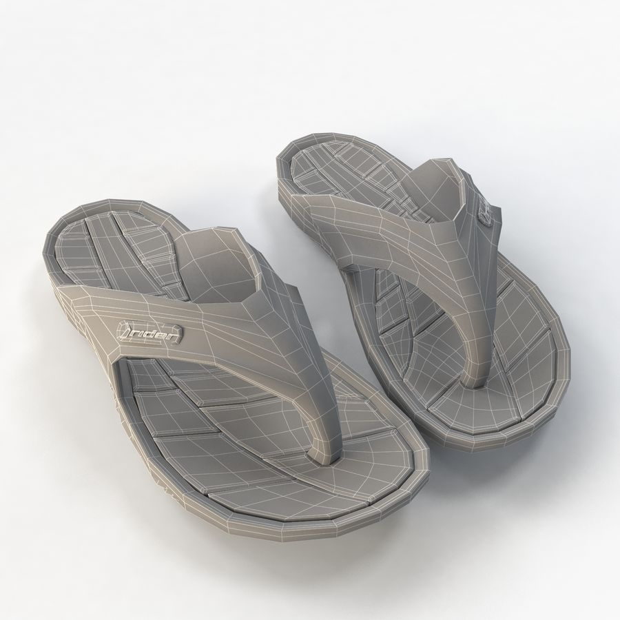 Flip Flop Rider royalty-free 3d model - Preview no. 7