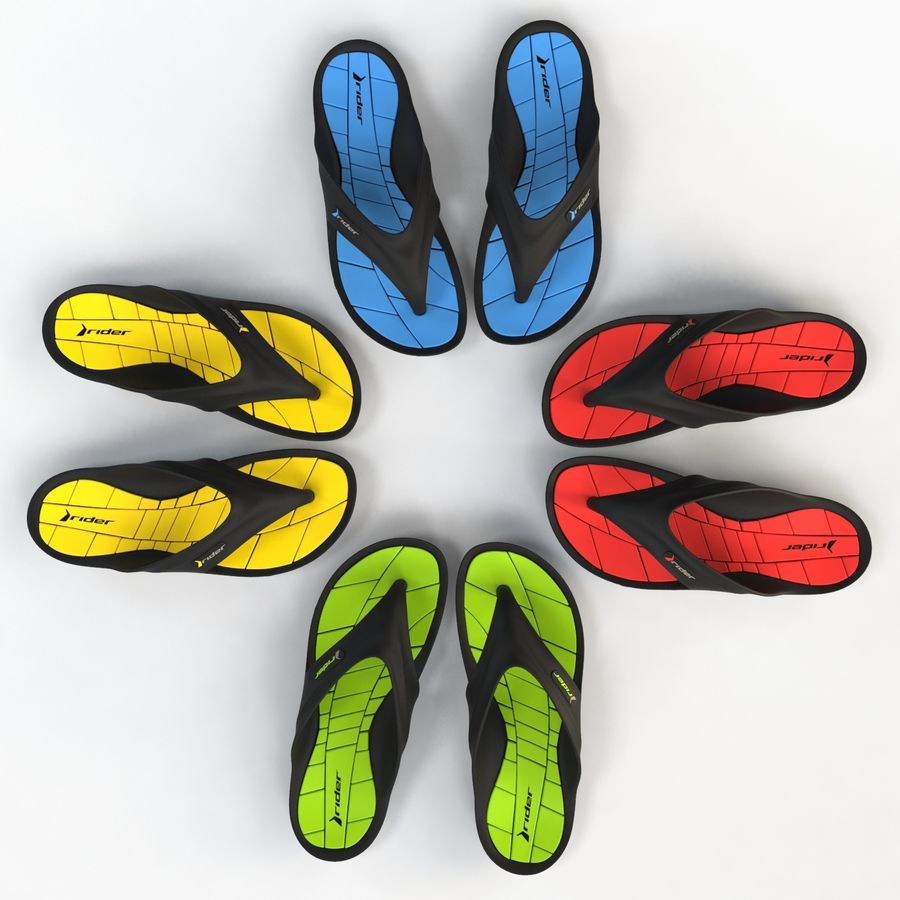 Rider Flip Flops royalty-free 3d model - Preview no. 17