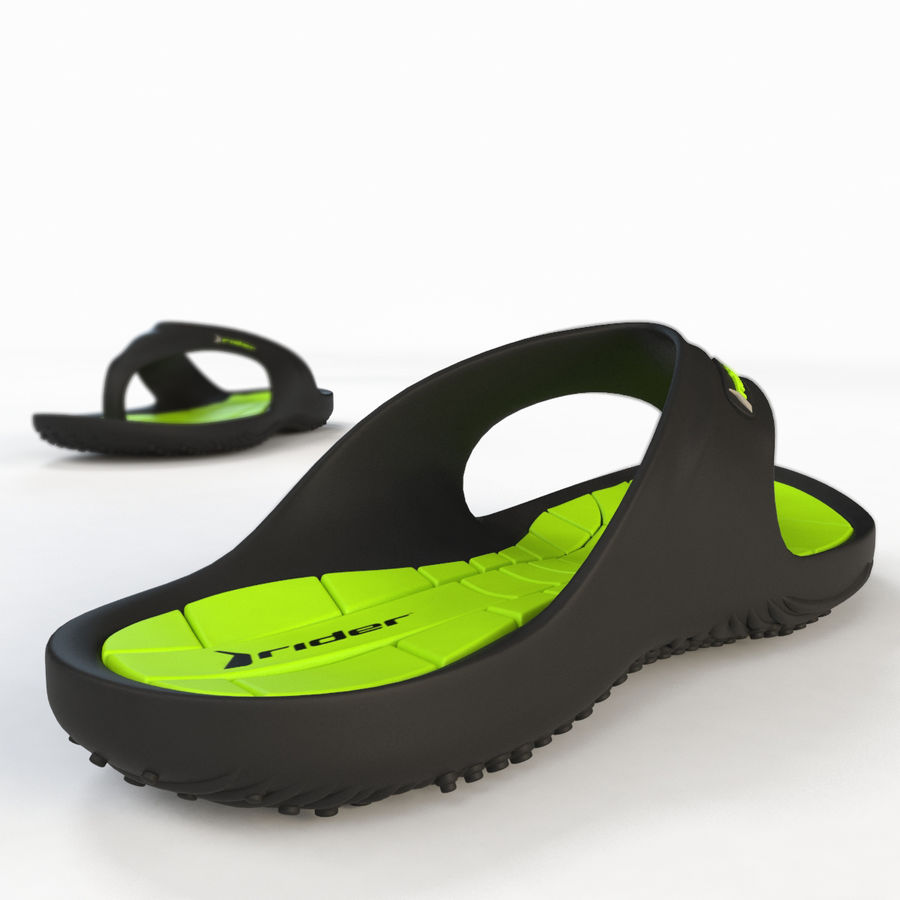 Rider Flip Flops royalty-free 3d model - Preview no. 14