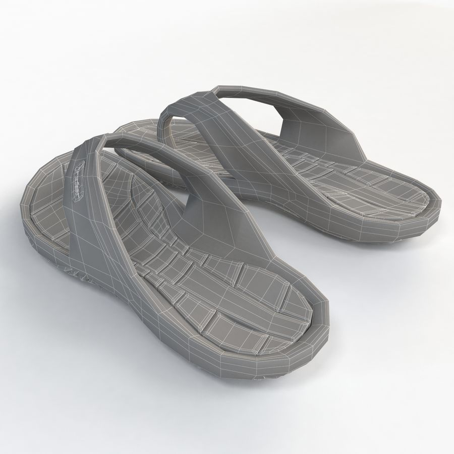 Rider Flip Flops royalty-free 3d model - Preview no. 6