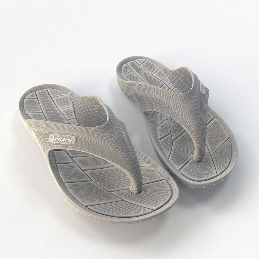 Rider Flip Flops royalty-free 3d model - Preview no. 9