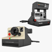 Polaroid Camera Collection 3d model