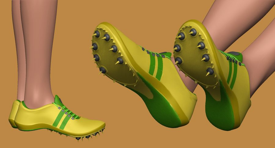 Cartoon Track and Field Athlete Sculpt royalty-free 3d model - Preview no. 16