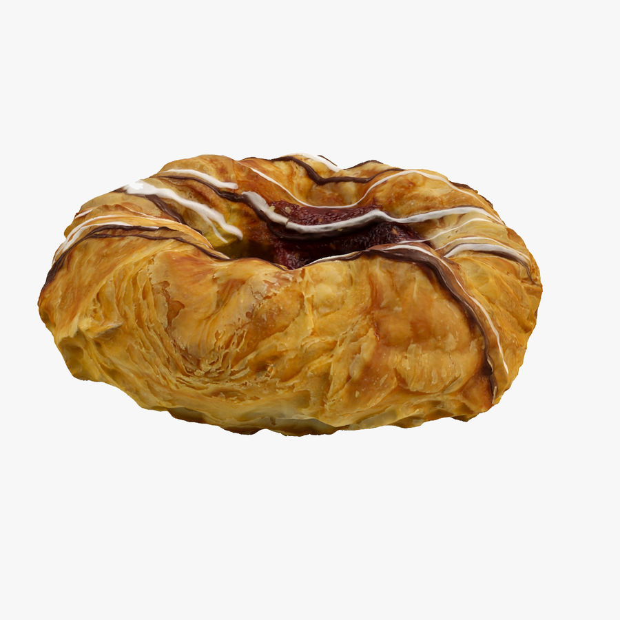 Une pâtisserie danoise royalty-free 3d model - Preview no. 1