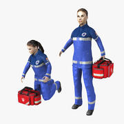 Paramedic Woman Rigged 3d model