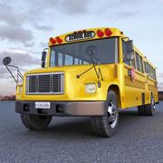 Autobus szkolny 3d model