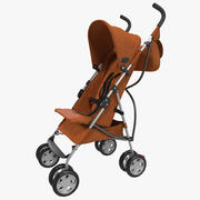 Bebek Arabası Turuncu 3D Model 3d model